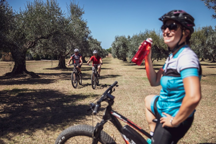 ciclisti in Toscana