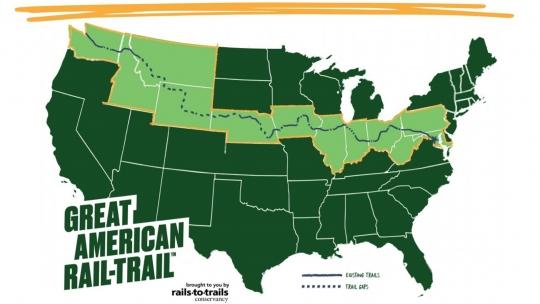 Great American Rail-Trail pista ciclabile coast to coast
