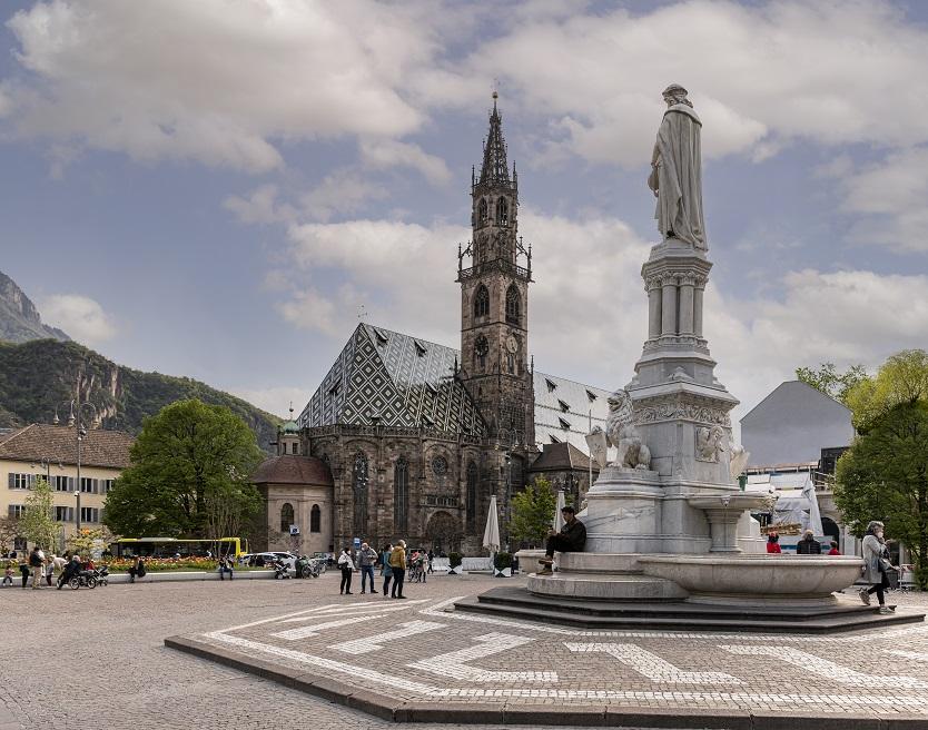 Uno scorcio del centro storico di Bolzano (credit: Ast Guadagnini)