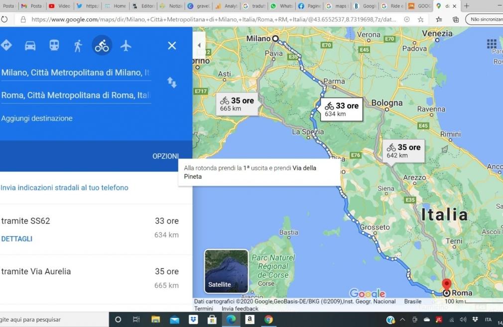 "Cicloturismo, opzione ""in bici"" su Google Maps"