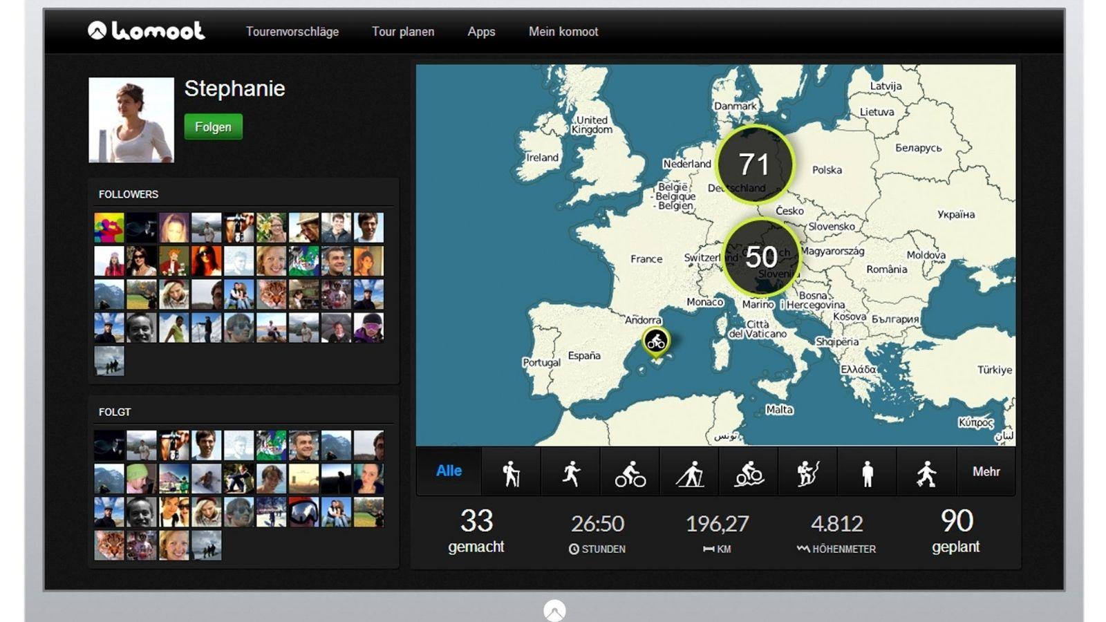 Komoot è una delle migliori app al mondo per il cicloturismo