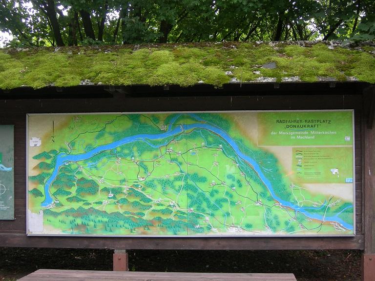 Il percorso della Ciclabile del Danubio in una cartina (credit: Chiara Bozzi)